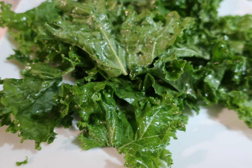 Microwave Kale Chips Vegetarian Vegetable