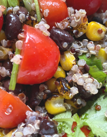 Quinoa Salad with Black Beans and Corn