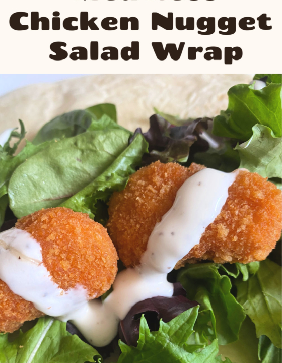 "Meatless ""Chicken Nugget"" Wrap"
