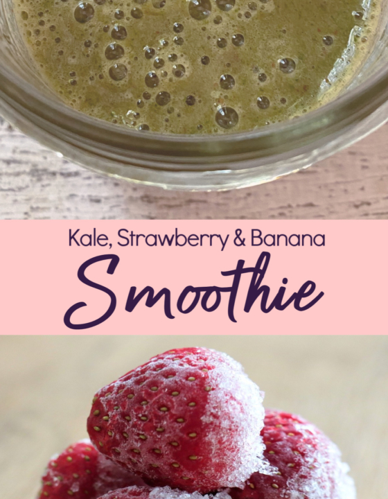 Strawberry, Banana & Kale Smoothie