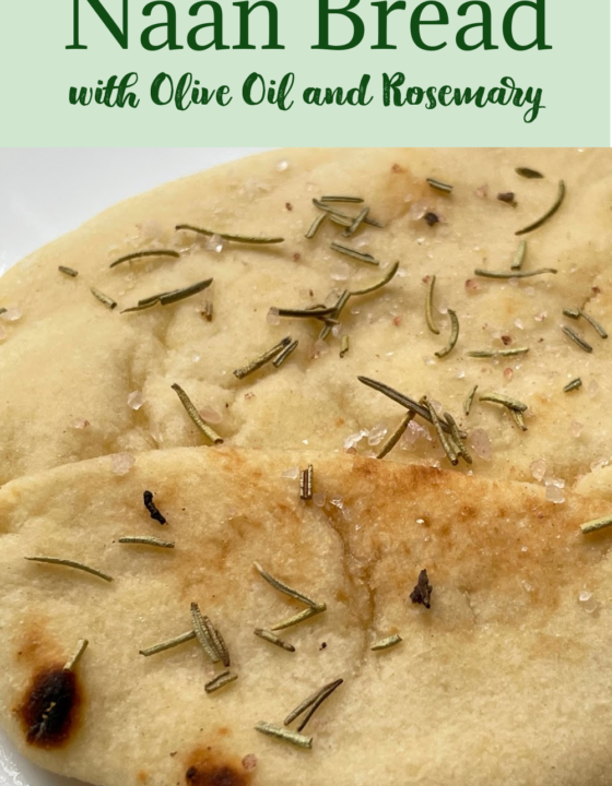 Naan Bread with Rosemary and Olive Oil