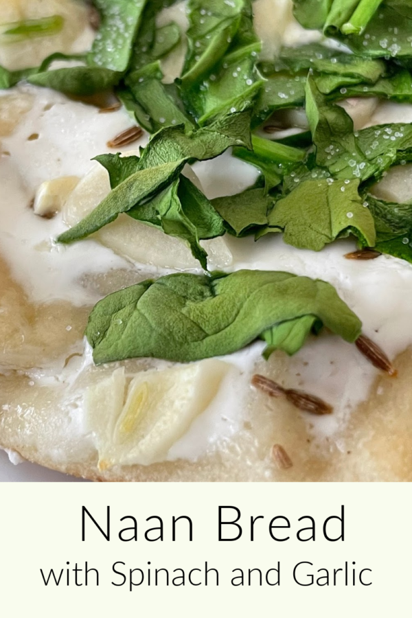 Naan Bread with Spinach & Garlic